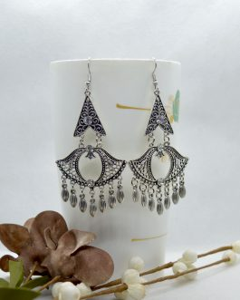 Silver Chandelier Dangling Ear...