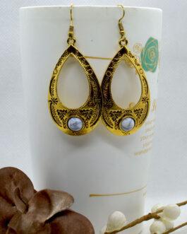 Golden/White Drop Designed Tib...