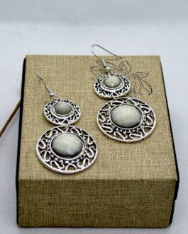Grey/Silver Double Round Drop ...