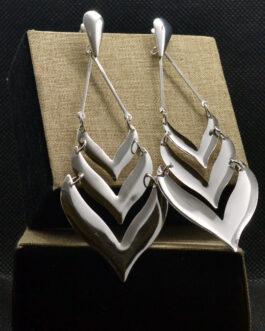 Silver Leaf Designed Light Ear...