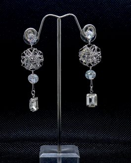 Silver Faux Crystal Rivoli Enc...