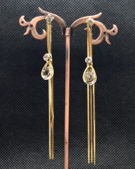 Golden Faux Crystal Adorned Ch...