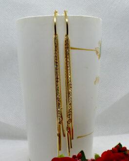 Golden Stone Studded Long Chai...