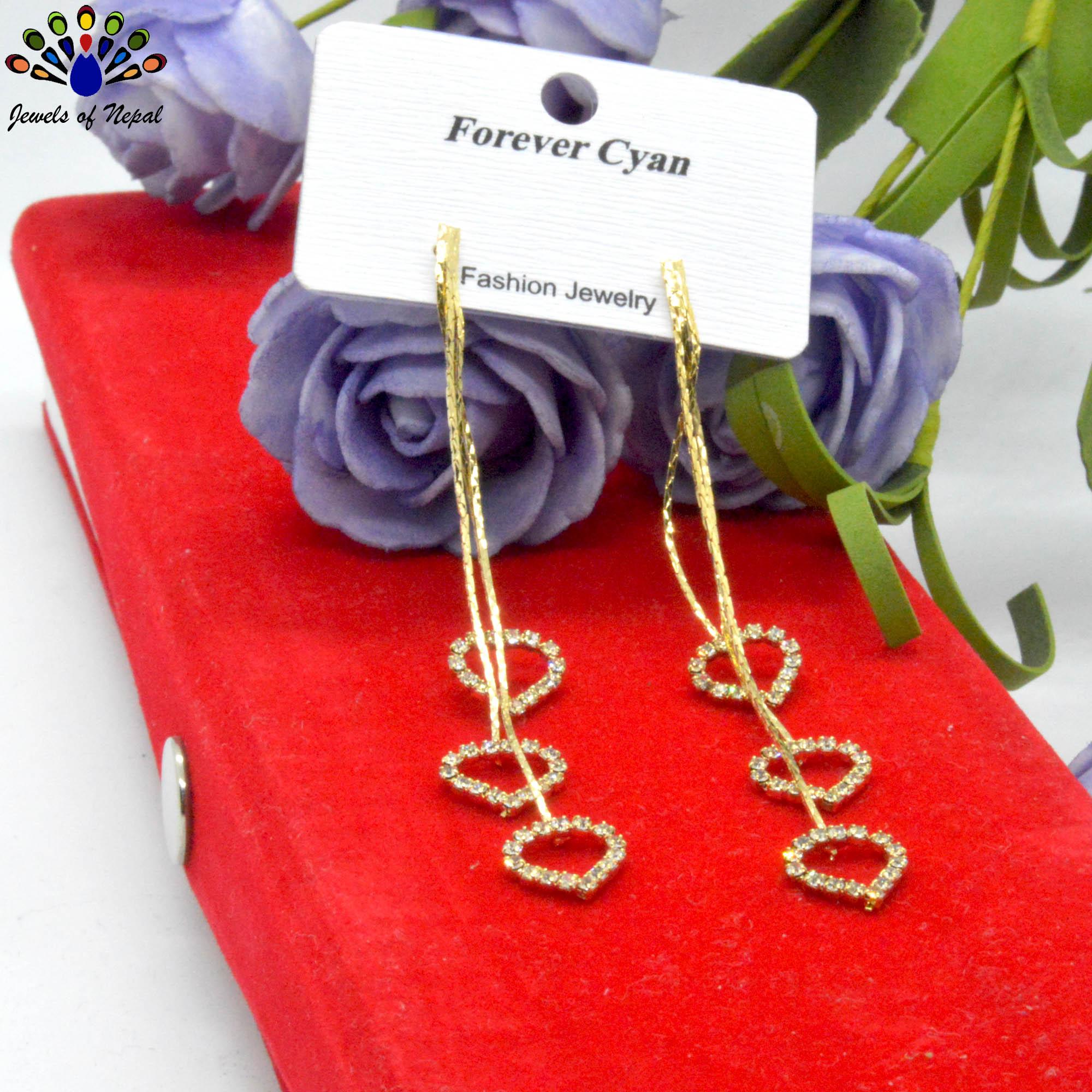 Golden/Silver Heart Drop Desig...