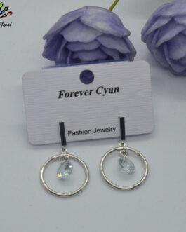 Silver Toned Circular Stone Dr...