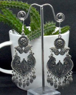 Silver Ethnic Designed Tassele...