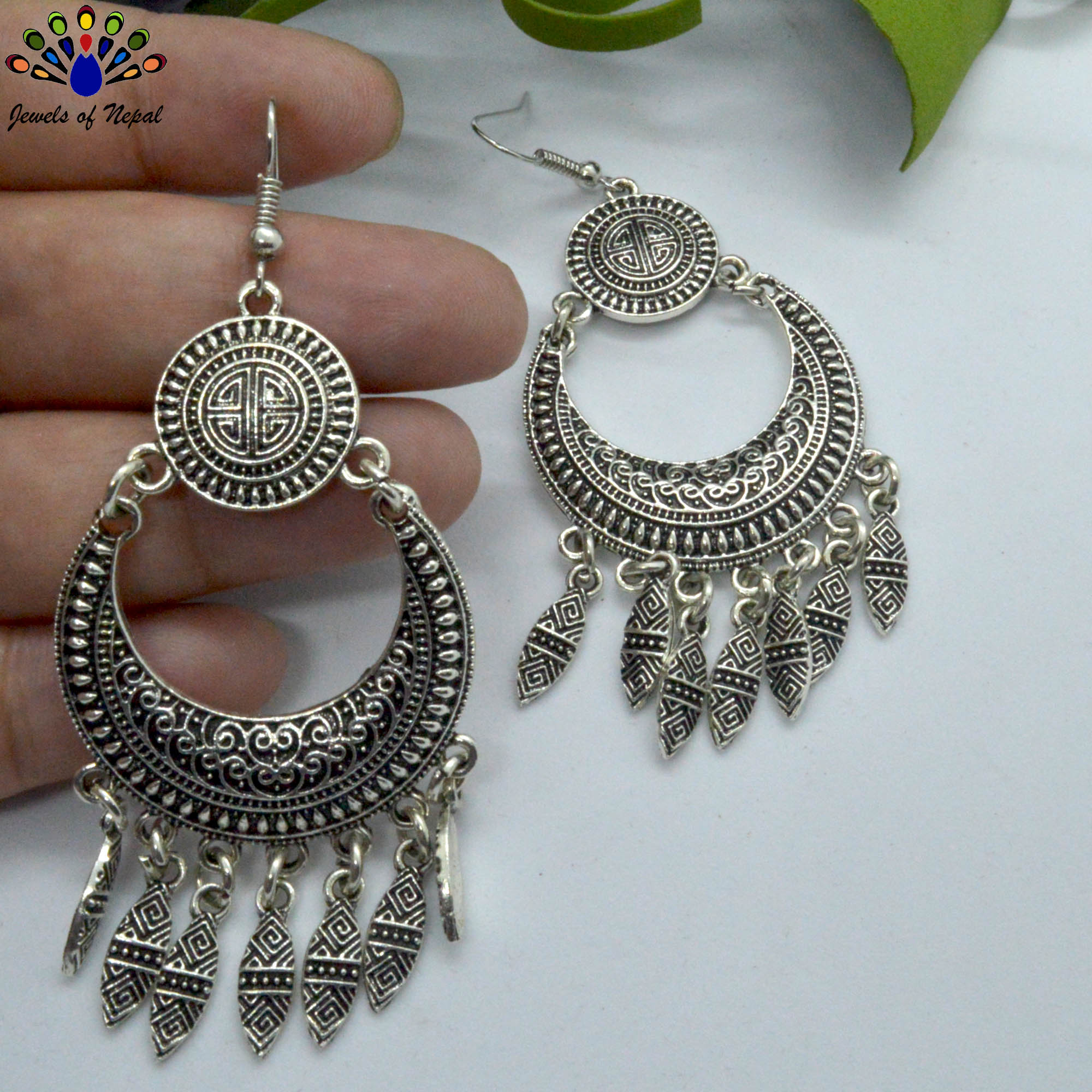 Oxidized Silver Toned Tribal P...