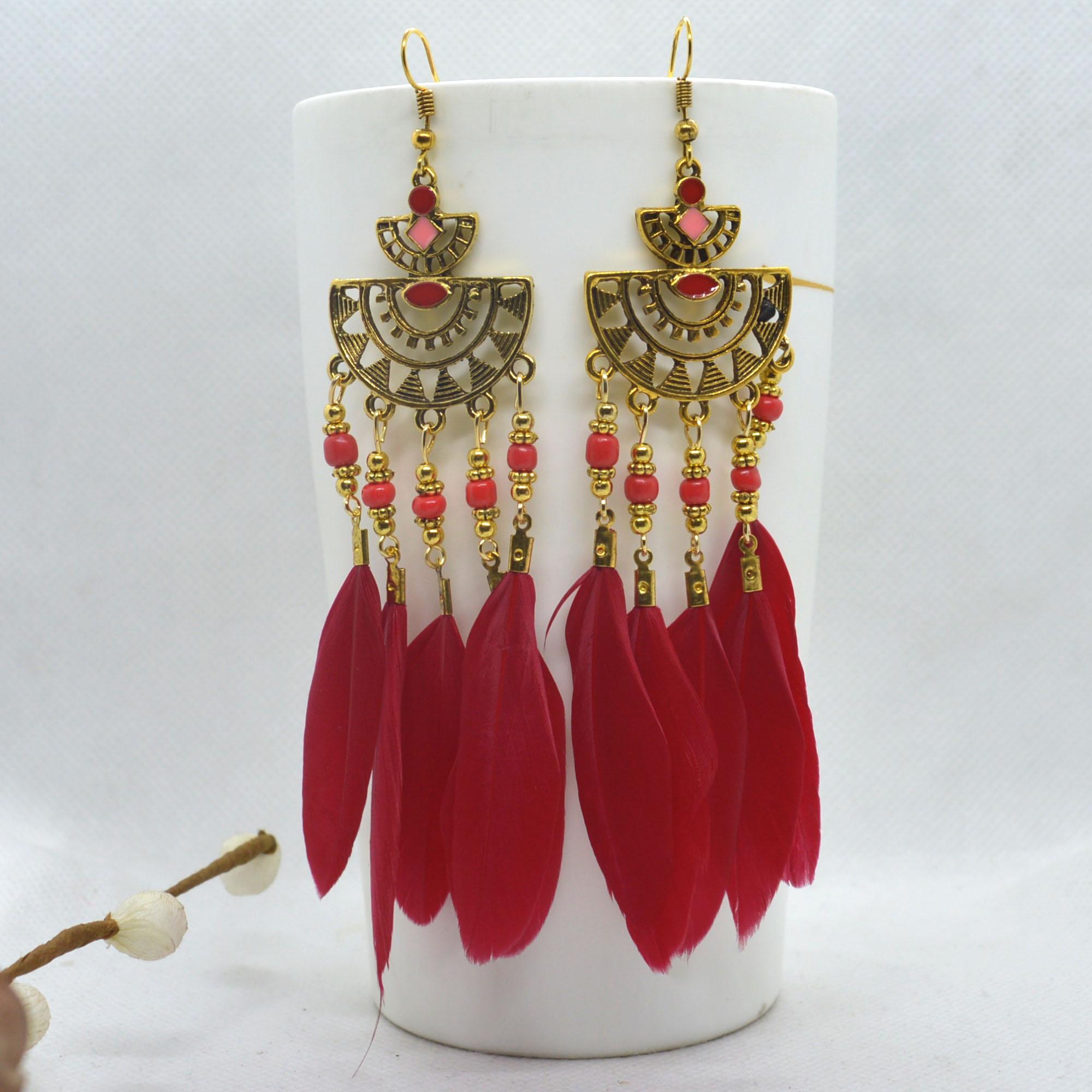 Boho Style Golden Tribal Desig...