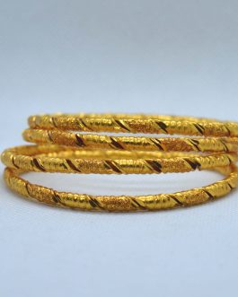 Gold Plated Round Spiral Patte...