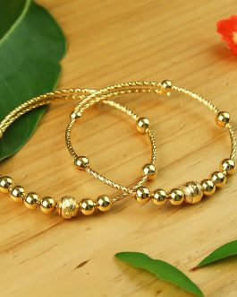 24K Gold Plated Ball Beaded Ad...