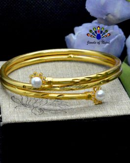 24K Gold Plated Faux Moti And ...