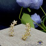 Gold Plated Flower Lined Ear S...