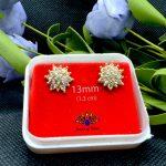 Faux Ruby / White Stone Gold P...