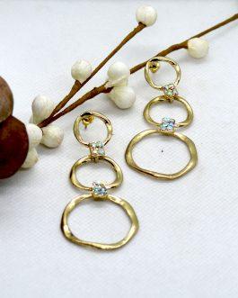 Gold Toned Stylish Asymmetrica...