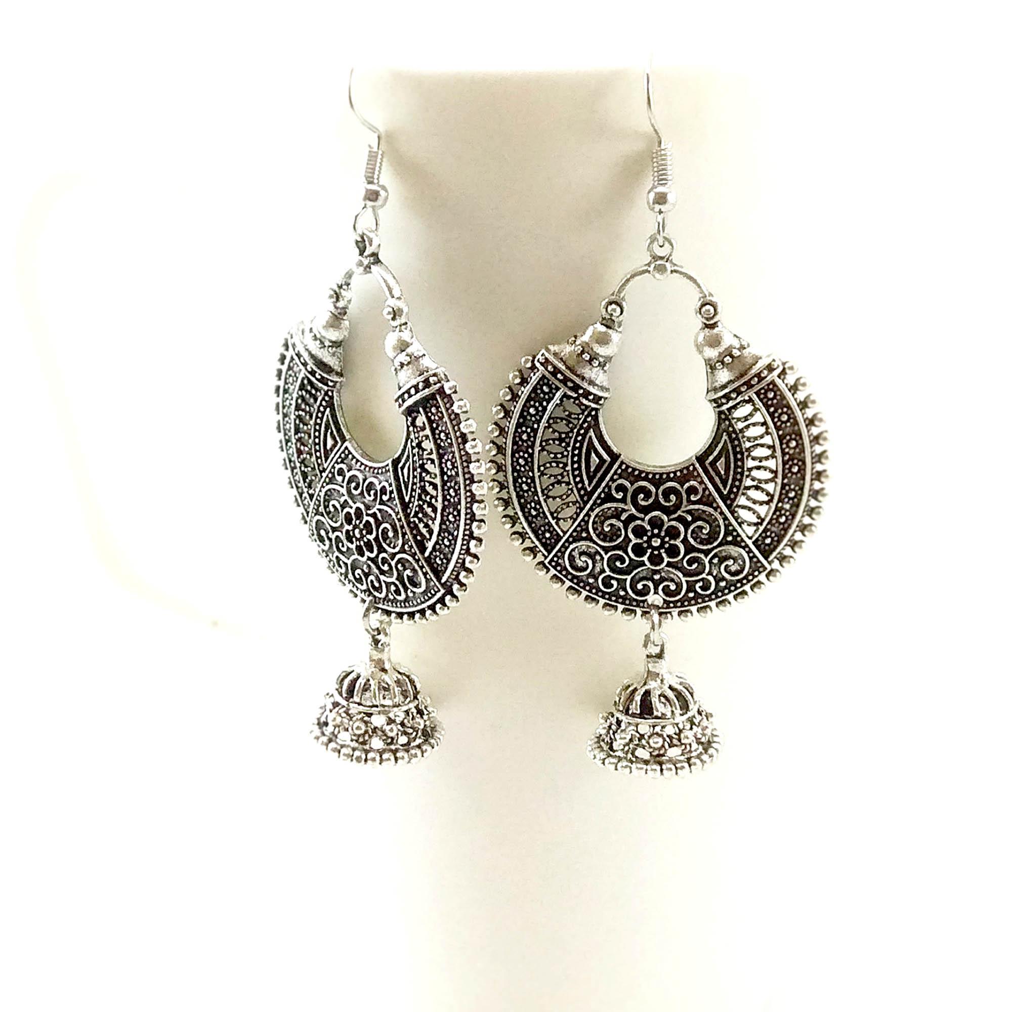 Antique Silver Toned Chandbaal...