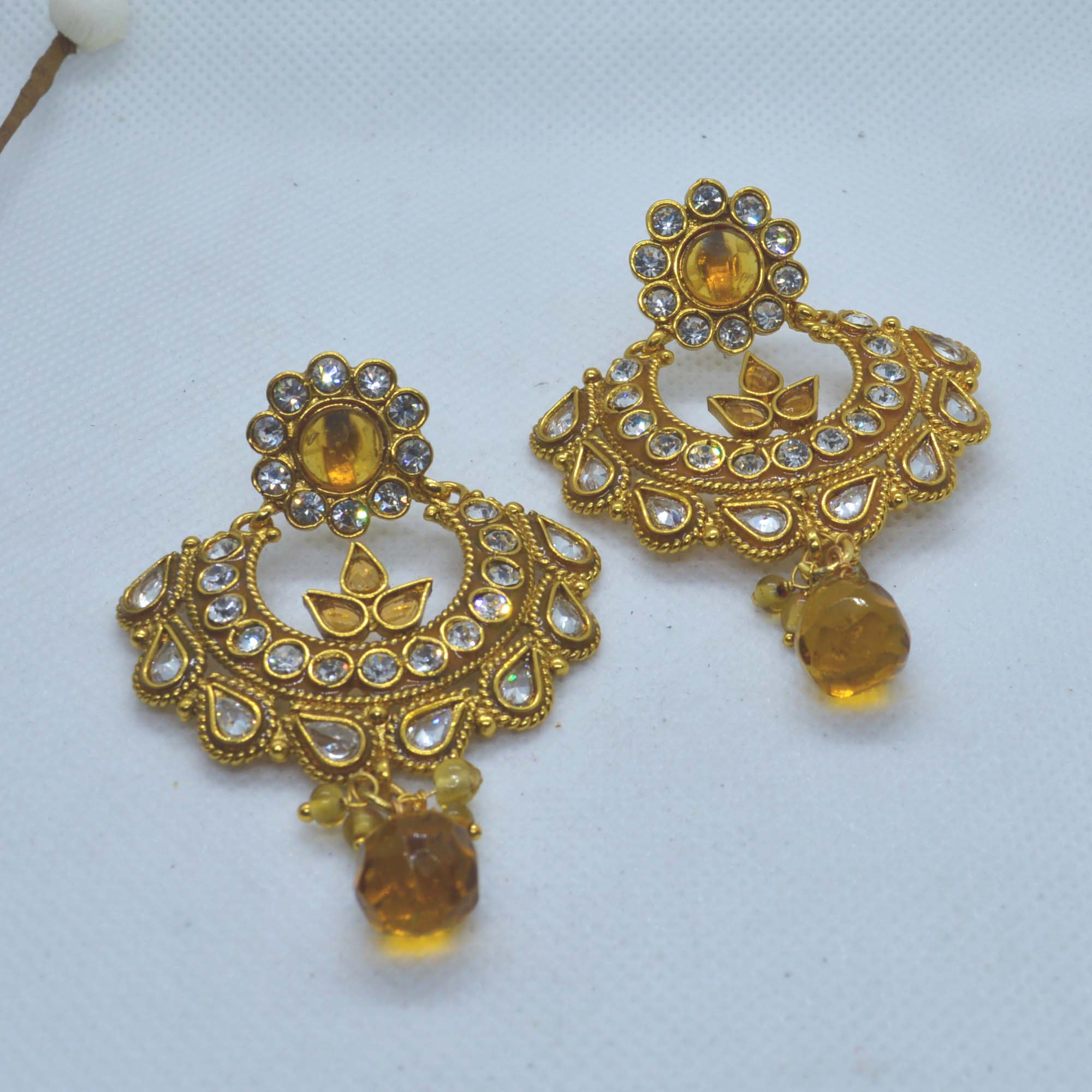 Golden/White Stone Studded Cha...
