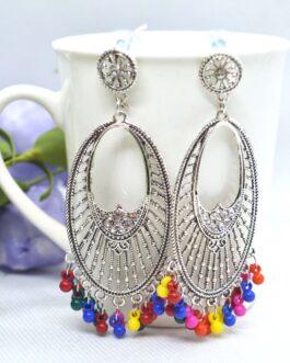 Silver Toned Stones Studded Mu...