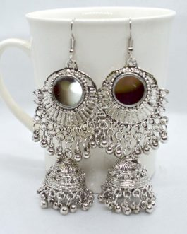 Silver Pinjada Drop Mirror Emb...
