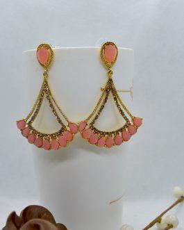 Golden Stone Dangling Earrings...