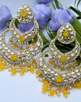 Golden/White Stone Studded Dou...