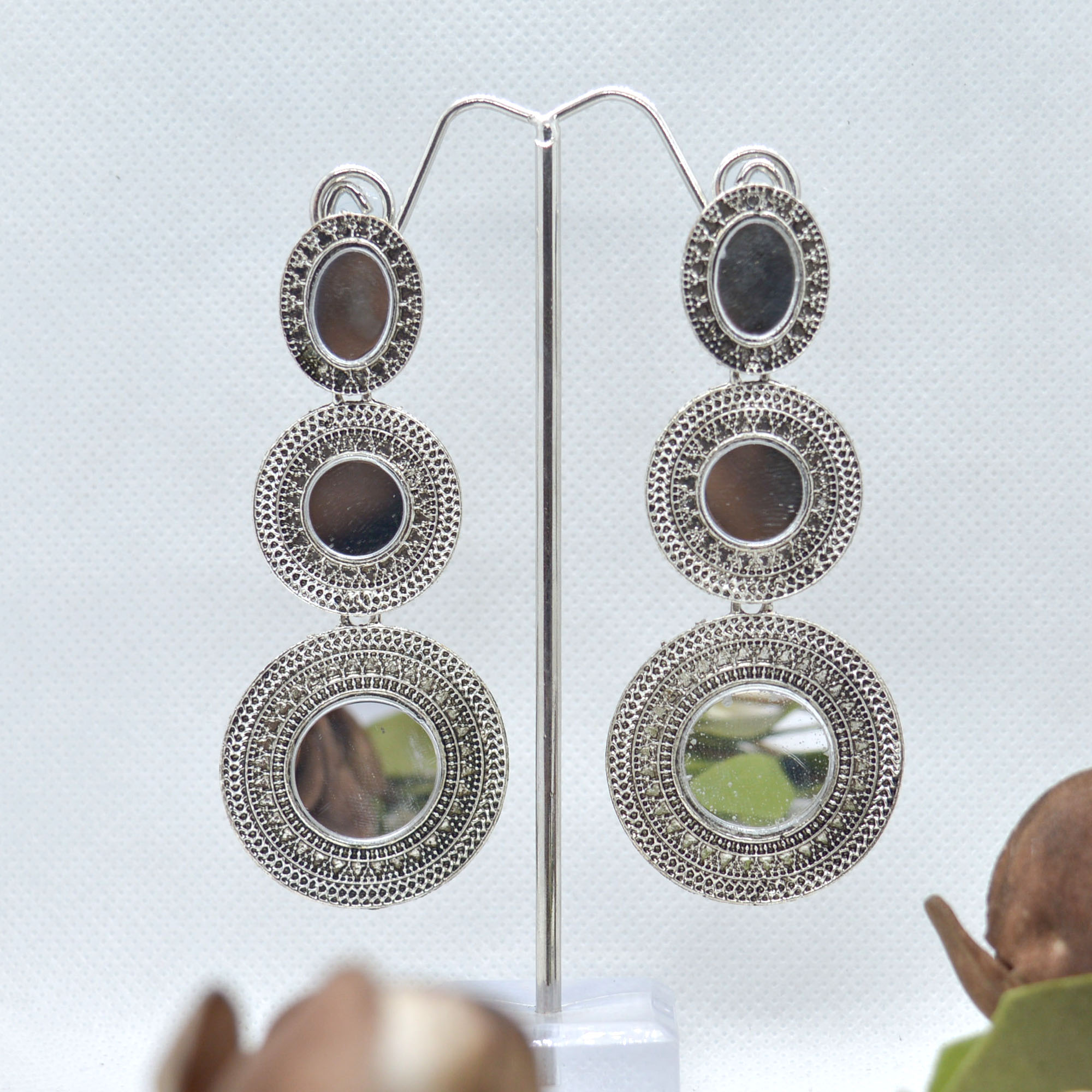 Double Round Mirror Adorned Si...