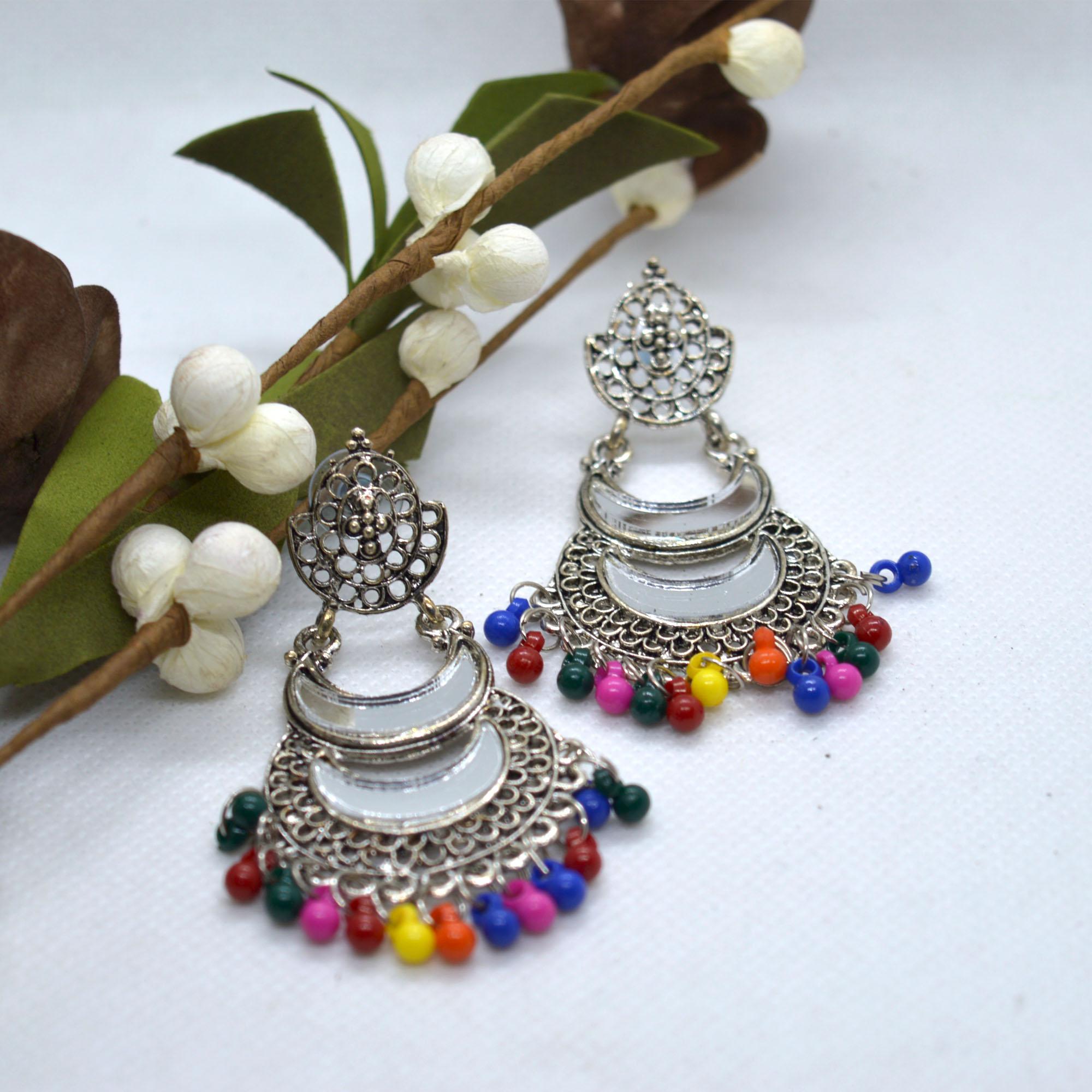 Silver/Multicolored Double Cha...
