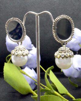 Golden Mirror Top Faux Pearl D...