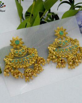 Stones Embellished Chandbali D...