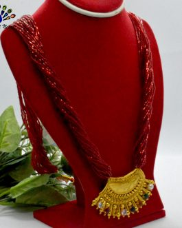 Gold Plated/Red Faux Navratna ...
