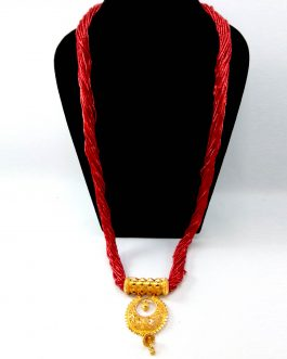 24K Gold Plated/Red Potey Bead...
