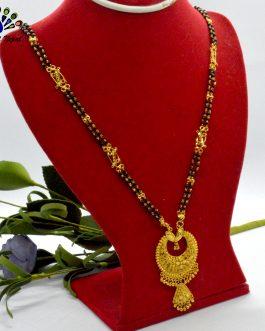 Gold Plated Chandbali Design Mangalsutra For Women