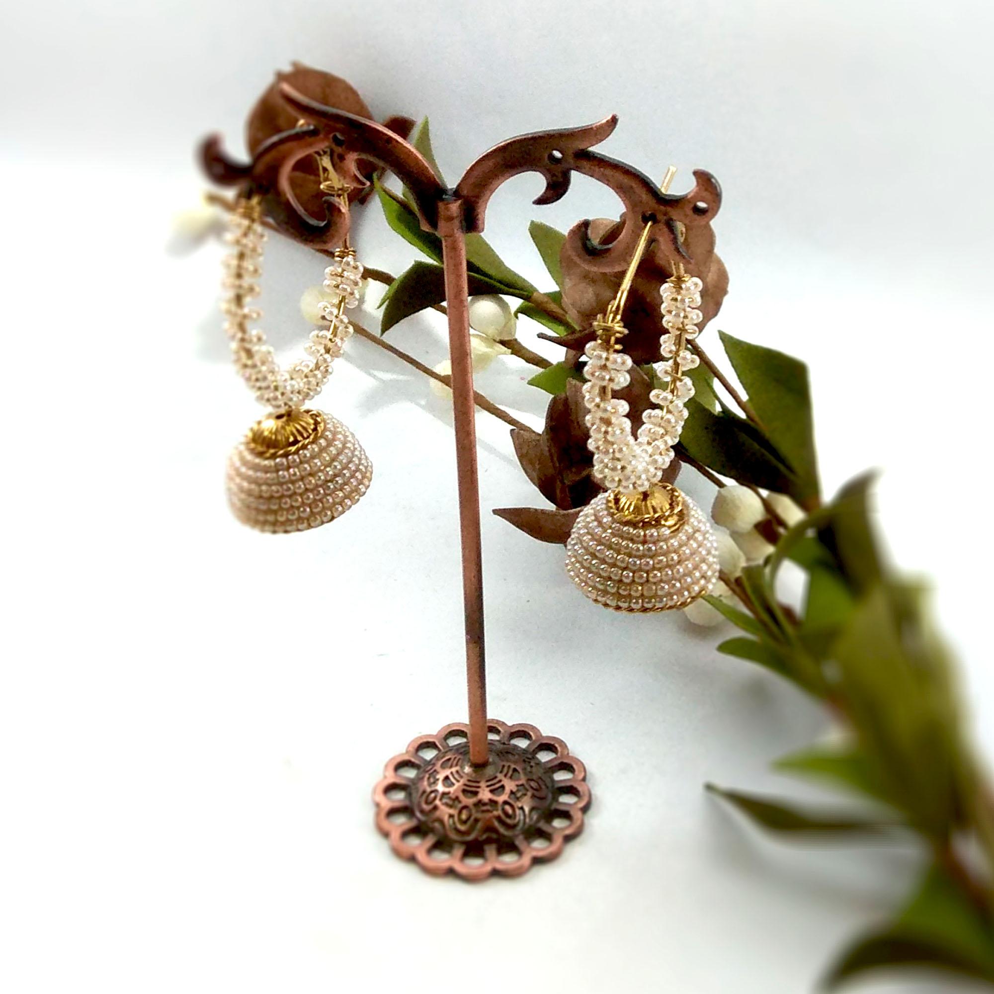 Beads Twirled Loop Pinjada Ear...