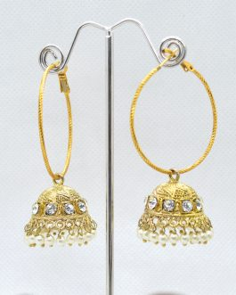 Golden Stone Studded Loop Pinj...