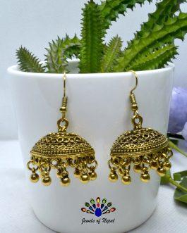 Golden/Silver Pinjara Drop Earrings For Women