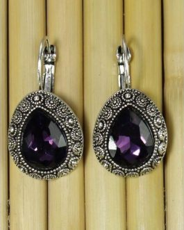Purple Crystal Earring For Wom...