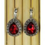 Red Crystal Earrings For Women