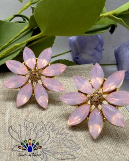 Stoned Flower Statement Ear St...