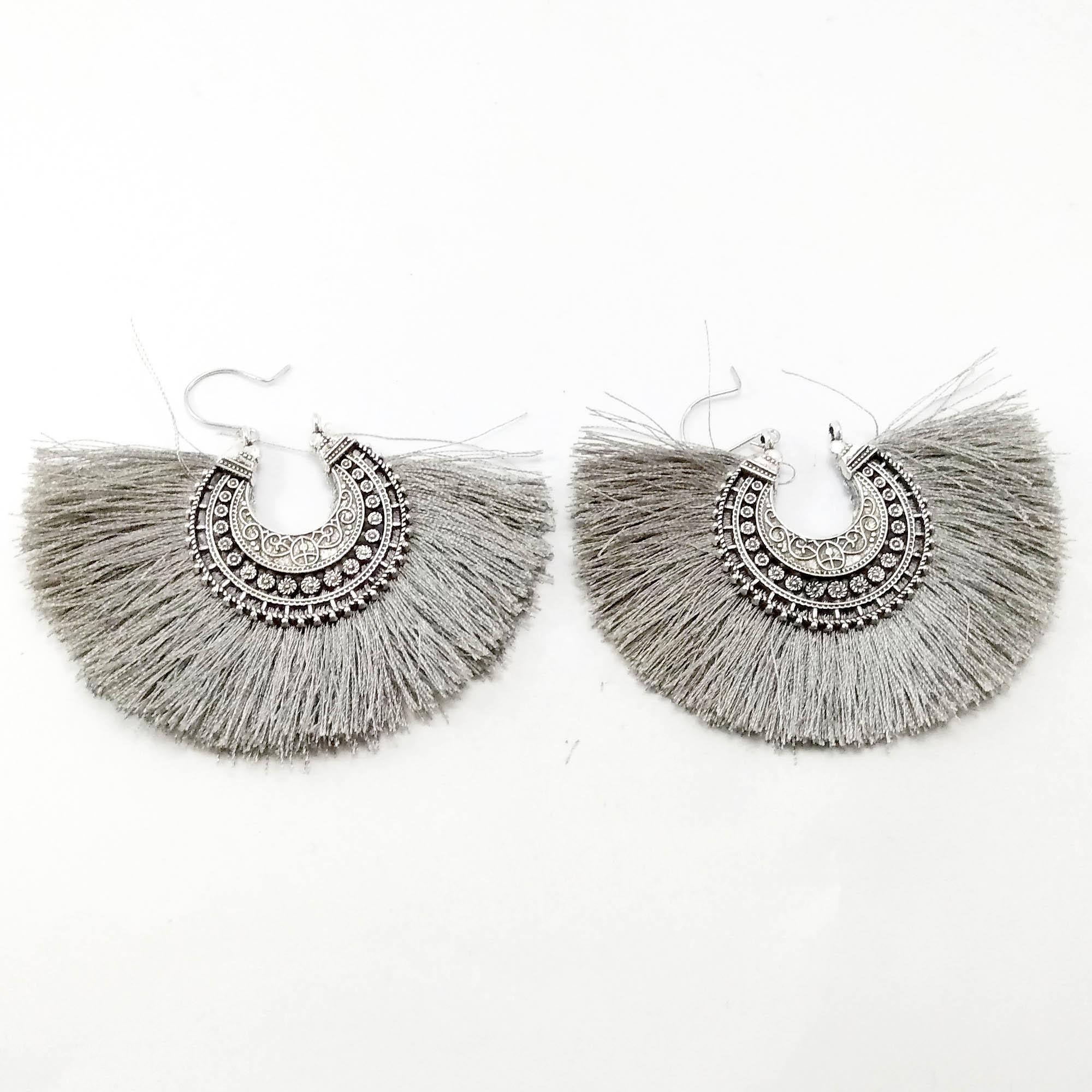 Silver/Grey Boho Designed Tass...