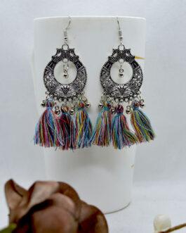 Silver/Multicolored Ethnic Pat...