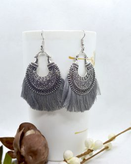 Silver/Multicolored Ethnic Pat...