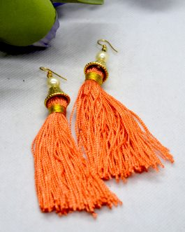 Orange/Golden Silk Thread Tass...