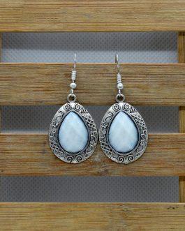 Tibetan Style Stone Hook Earri...