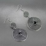 Silver/Golden Twisted Double Layered Dangle Earrings