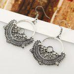 Vintage Styled Bali Textured Dangle Earrings