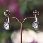 White Single Stone Earrings For Women